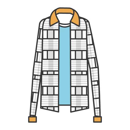 plaid sweater classic icon vector illustration design Ilustrace
