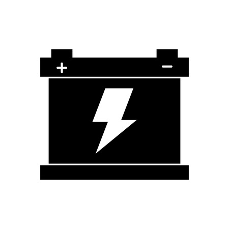 car battery accumulator energy power and electricity icon vector illustration Stok Fotoğraf - 85132108