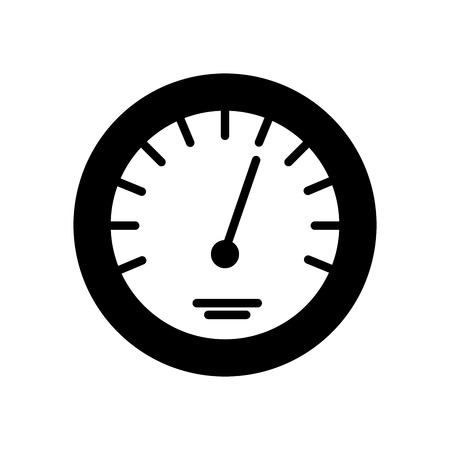 timer icon scale indicator fast growth speed vector illustration