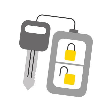 Sicherheit Fernbedienung Schlüssel für Ihr Auto Vektor-Illustration Standard-Bild - 85131686
