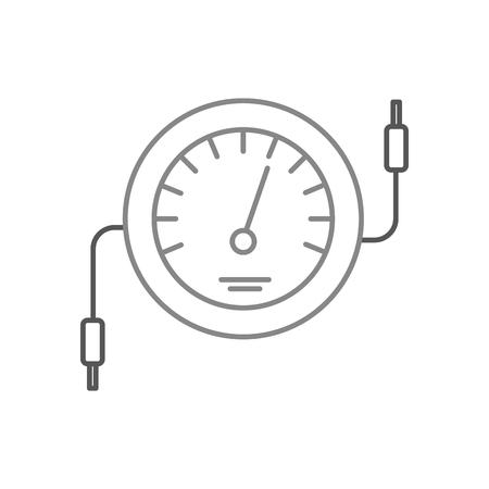 Ilustración de vector de prueba de cable eléctrico de contador de icono de velocímetro Foto de archivo - 85132122