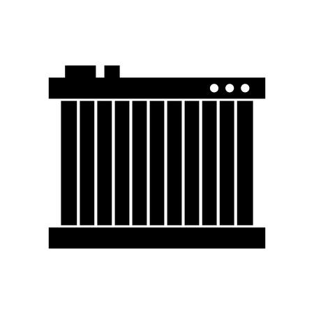 Radiateur pour chauffer les voitures de gaz vecteur illustration Banque d'images - 85132124