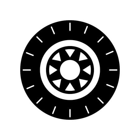 car wheel service concept vehicle maintenance road vector illustration Illustration