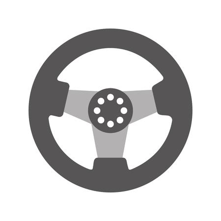 자동차 스티어링 휠 기능 부품 차량 아이콘 벡터 일러스트 레이션