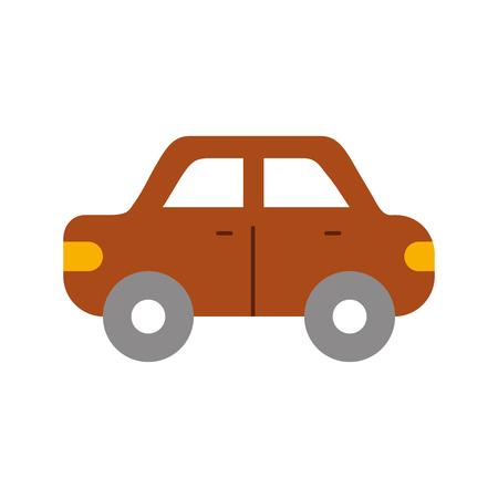 auto zijaanzicht automobiel motorvoertuig vectorillustratie