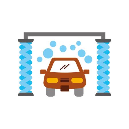 automatic car wash shampoo service center icon vector illustration Stock Vector - 85133085