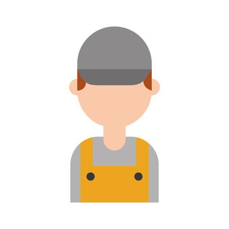 Reparateur ingenieur assistent werker pictogram vector illustratie Stockfoto - 85133168