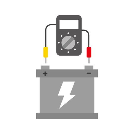 車のバッテリ テスター デバイス電気機器ベクトル図