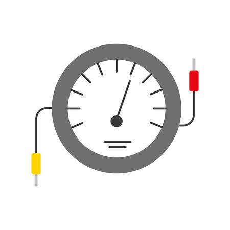 Velocímetro icono de contador de prueba del mercado eléctrico ilustración vectorial Foto de archivo - 85133178