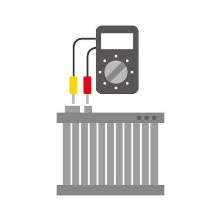Radiateur de voiture avec testeur mécanique appareil électrique illustration vectorielle Banque d'images - 85133180
