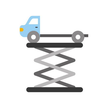 tow truck side view platform service maintenance vector illustration
