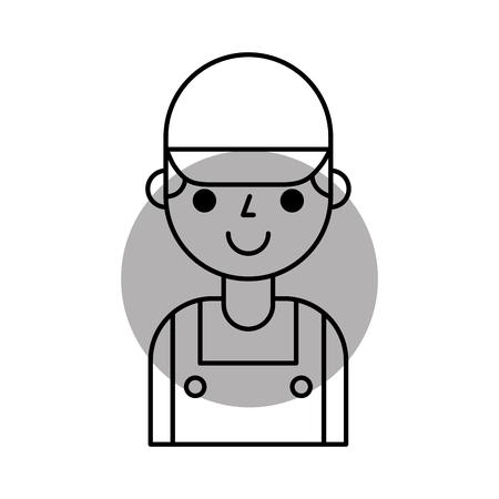Reparateur ingenieur assistent werker pictogram vector illustratie Stockfoto - 85131845