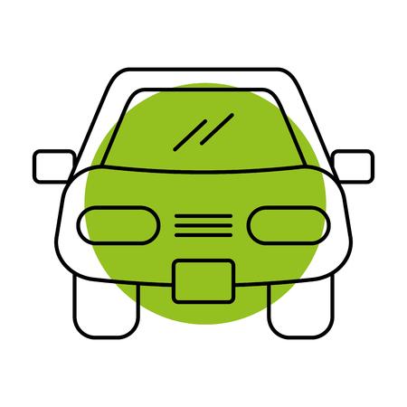 漫画車車両輸送フロント ビュー アイコン ベクトル図  イラスト・ベクター素材
