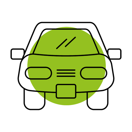sedan: cartoon car vehicle transport front view icon vector illustration Illustration