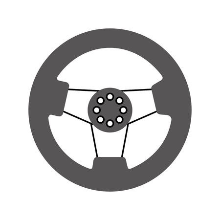 car steering wheel function part vehicle icon vector illustration Stock Vector - 85133220