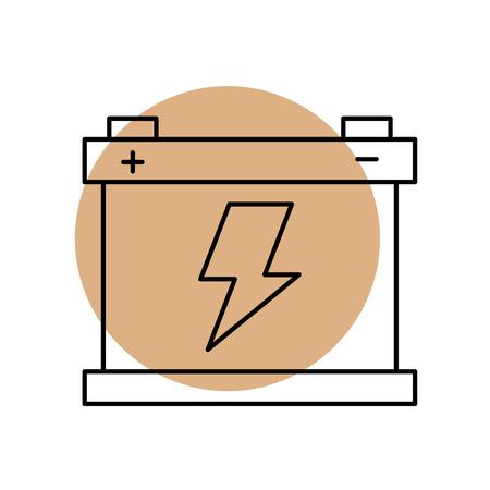 자동차 배터리 축전지 에너지 전력 및 전기 아이콘 벡터 일러스트 레이 션