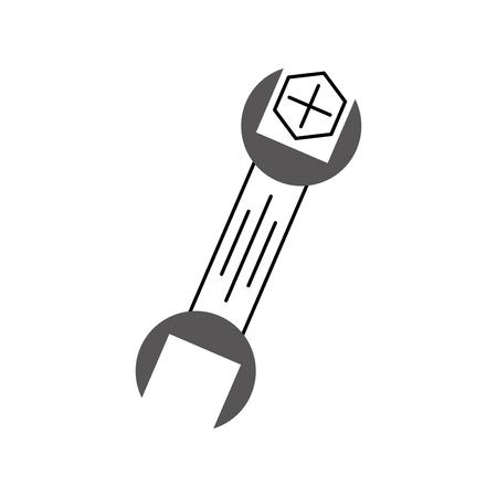レンチとスクリュー ツール修理サポート機械的アイコン ベクトル イラスト  イラスト・ベクター素材