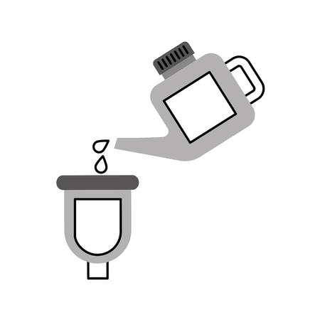 塗装改修メンテナンス車アイコンを注ぐ容器