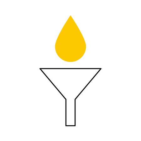 oil dropping in funnel maintenance car icon