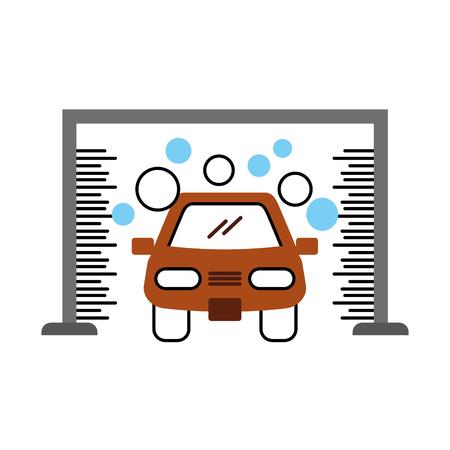 Illustrazione vettoriale icona del servizio lavaggio automatico lavaggio auto Archivio Fotografico - 85135074