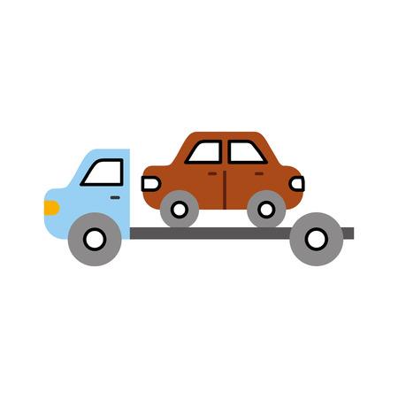 Dépanneuse assistance de secours pour illustration vectorielle de voiture Banque d'images - 85135088