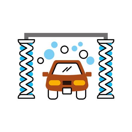 洗車シャンプー サービス センター アイコン ベクトル図