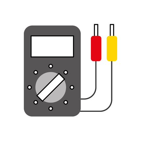 car battery tester appliance measure power vector illustration Ilustracja