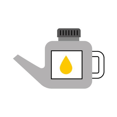 ガソリン小さなかんはドロップ ベクター画像を扱うことができます。