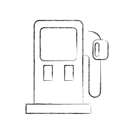 gasoline pump petrol fuel equipment design vector illustration