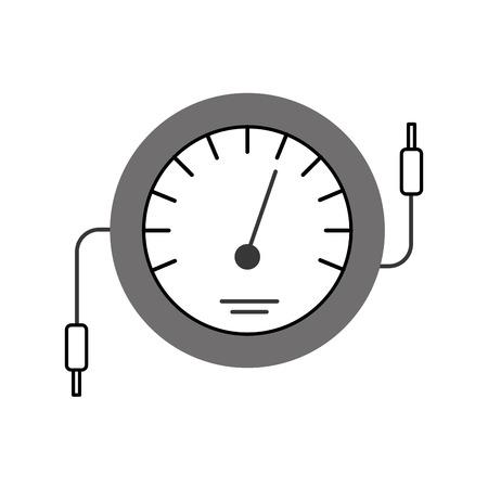 속도계 아이콘 카운터 전기 케이블 테스트 벡터 일러스트 레이션