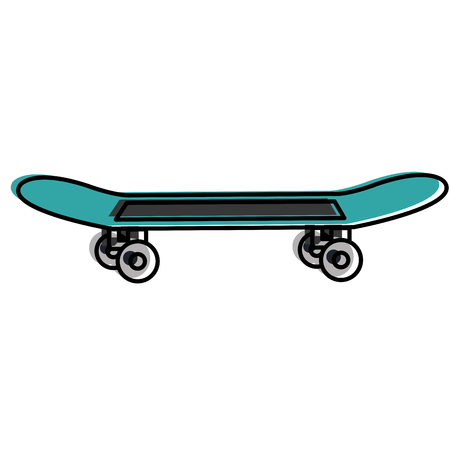 skate board isolated icon vector illustration design Çizim