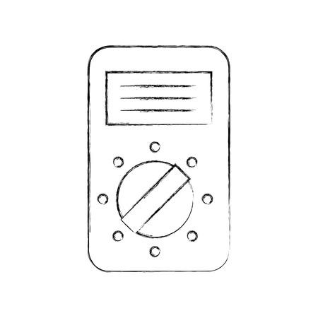 アイコンのベクトル図を測定するテスター デバイス電気  イラスト・ベクター素材