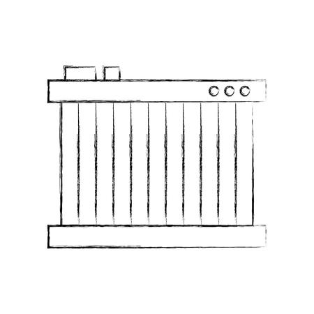 radiator for cooling the car motor liquids vector illustration