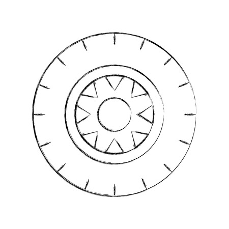 カーホイールサービスコンセプト車両メンテナンスロードベクトルイラスト  イラスト・ベクター素材