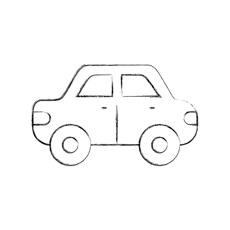 car side view automobile motor vehicle vector illustration