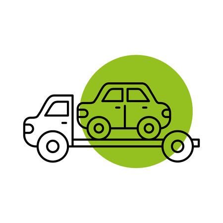 Remorquage camion d & # 39 ; assistance de secours pour la voiture illustration vectorielle Banque d'images - 85135094
