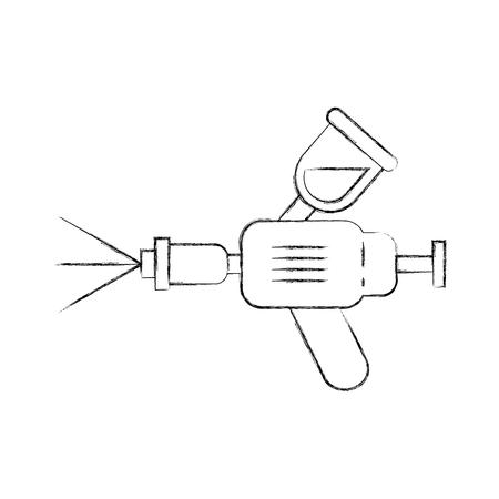 エアブラシ車スプレー塗装装置シンボルベクトルイラスト 写真素材 - 85136222