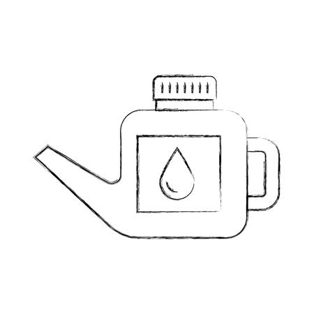 Carburant cartouche essence peut poignée de goutte illustration vectorielle Banque d'images - 85136247