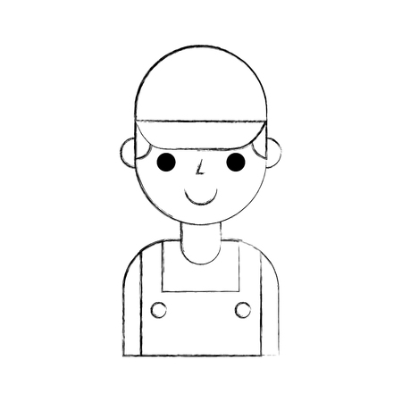 Reparateur ingenieur assistent werker pictogram vector illustratie Stockfoto - 85136254