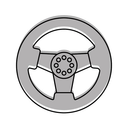 auto stuurwiel functie onderdeel voertuig pictogram vector illustratie