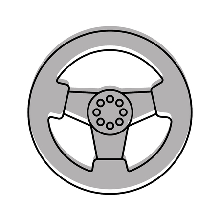car steering wheel function part vehicle icon vector illustration Çizim