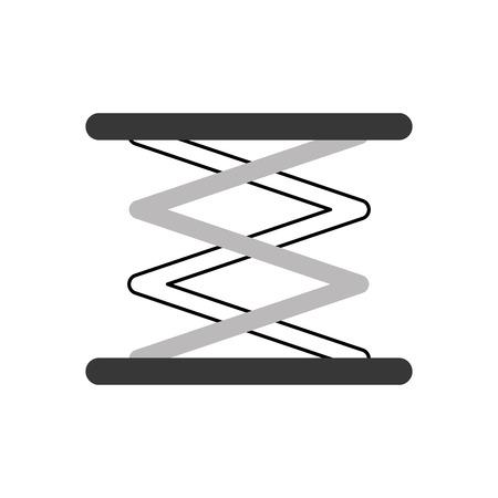 自走リフト油圧マシン イメージ ベクトル イラスト  イラスト・ベクター素材