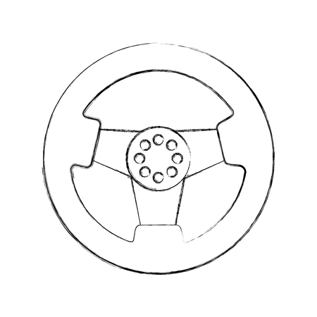 car steering wheel function part vehicle icon vector illustration Reklamní fotografie - 85136253