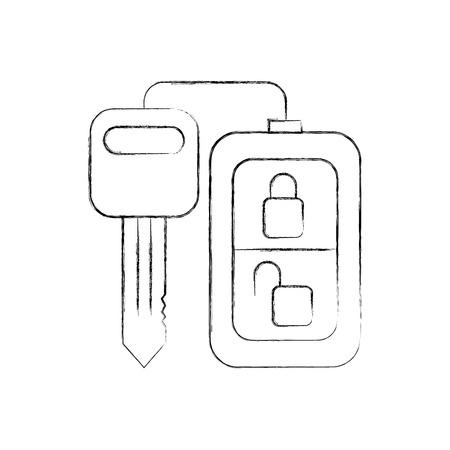 Chiave di telecomando di sicurezza per l'illustrazione vettoriale auto Archivio Fotografico - 85136496