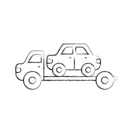 車のベクトルのイラストのための牽引トラックの援助の緊急事態  イラスト・ベクター素材