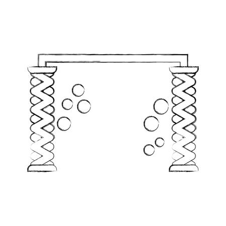 automatic wash water shampoo equipment vector illustration Illustration