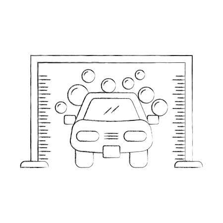 automatic car wash shampoo service center icon vector illustration Stock Vector - 85132204