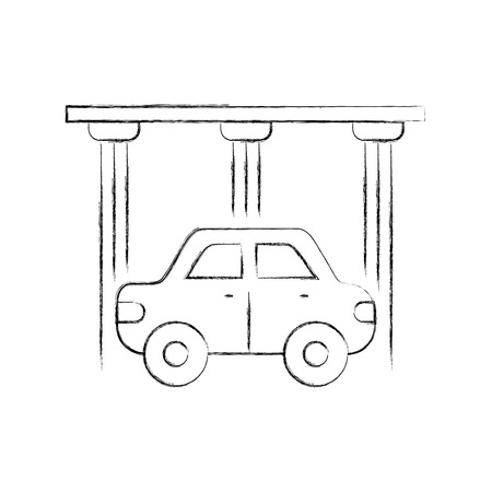 service center car water washing clean icon vector illustration