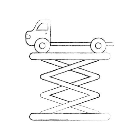 Remorquage camion vue de côté service de maintenance vecteur illustration Banque d'images - 85132137