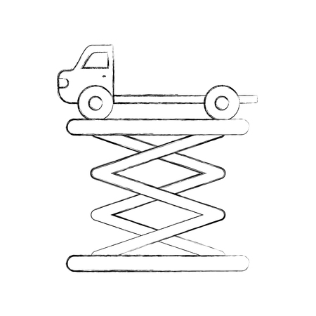 tow truck side view platform service maintenance vector illustration